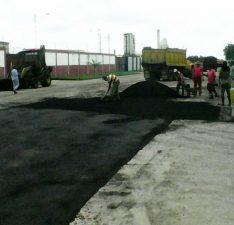 Continúan los trabajos de asfaltado en Zimca