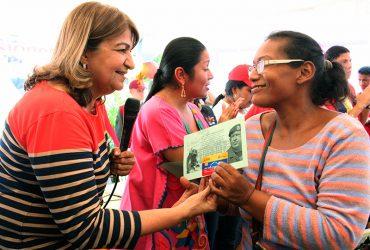 Santaella y ministra Aloha Núñez inauguran nueva Base de Misiones Socialistas